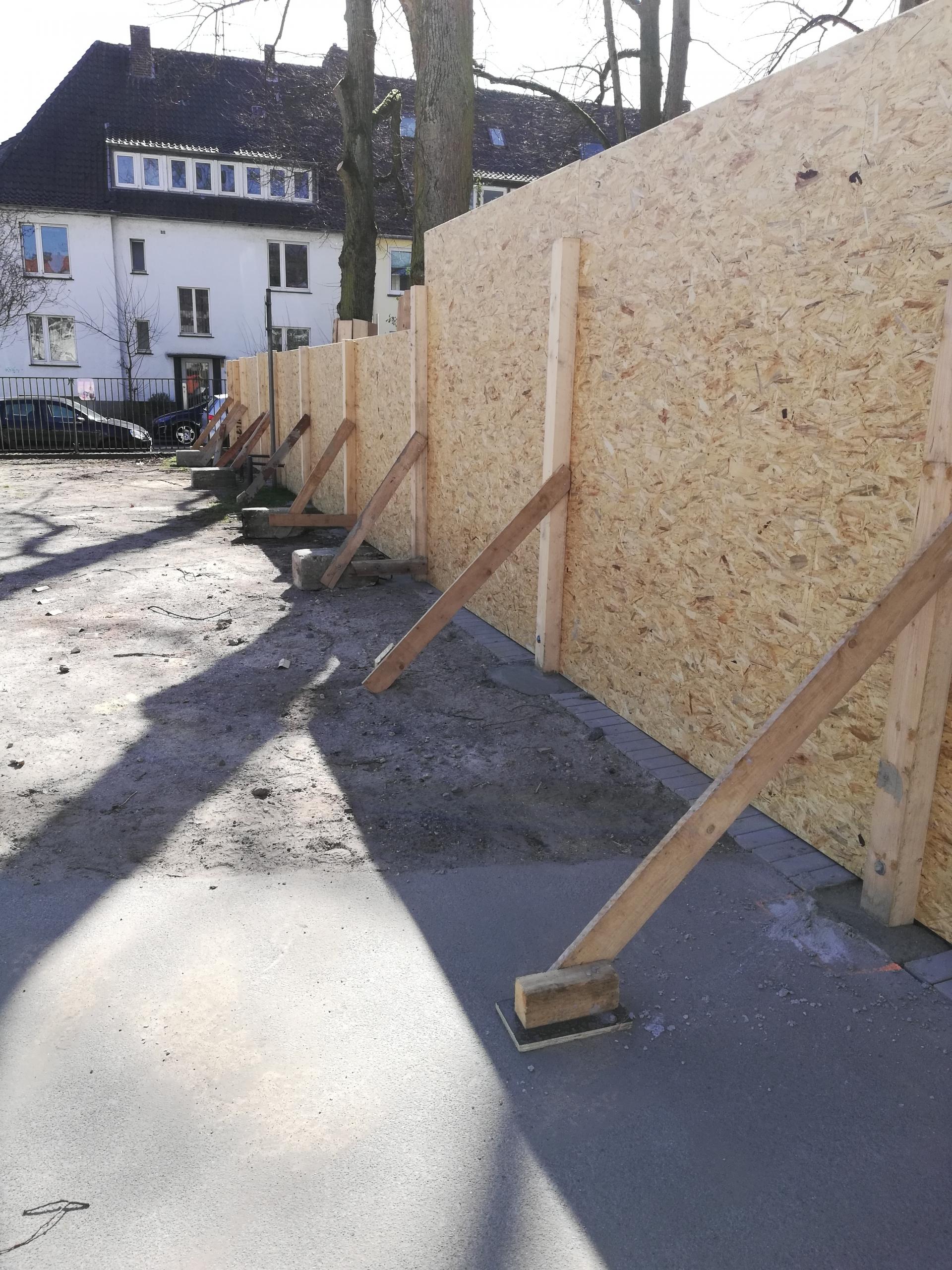 Bauvorbereitungen Südviertelhof