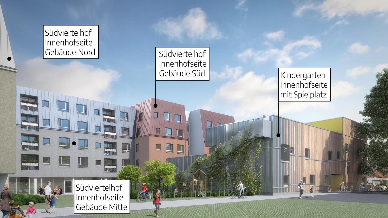 Innenhof Südviertelhof